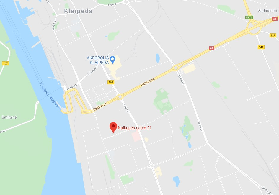 Kaip mus rasti, žemėlapis, adresas