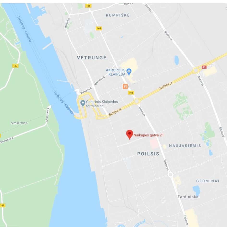 KSPIC, vieta žemėlapyje